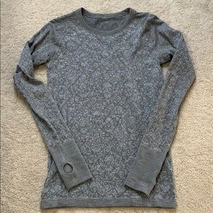 lululemon rest less pullover slate 8